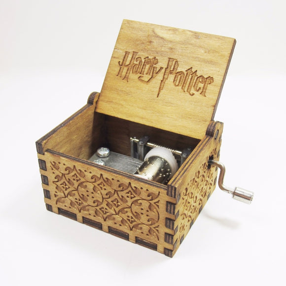 Antique Carved Wooden Harry Potter Music Box