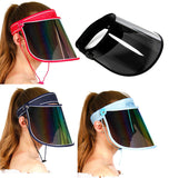 Face Shield Protector Sun Visor Hat Cap UV Protection - Premium Adjustable Solar Headband