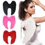 Adult 4 Color Outfit Angel Wing Dress Up Costume Fashion Girls Feather Fairy Pretty Halloween Cosplay Wing Party Supplies