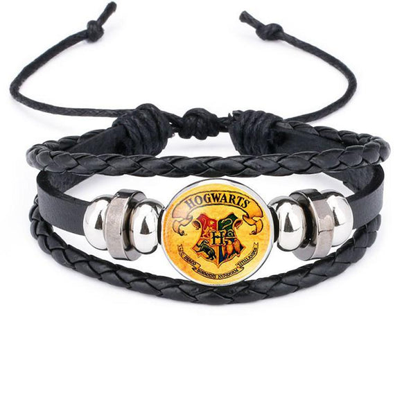 Black Leather Rope Harry Potter Bracelet