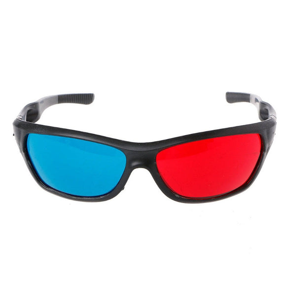 3D Glasses Universal White Frame Red Blue Anaglyph 3D Glasses For Movie Game DVD Video TV - Ace198