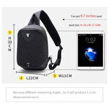 ARCTIC HUNTER Large Capacity Chest Pack Messenger Bags Men's School Bag Modern Shoulder Unisex Crossbody