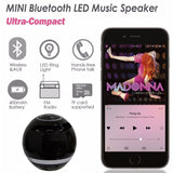 Bluetooth Speaker Mini Portable Wireless Speaker Soundbar Bass Boombox Sound box with Mic TF Card FM Radio LED Light - Ace198