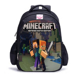 Teenager MineCraft Cartoon Backpack Boy Cartoon School Bags