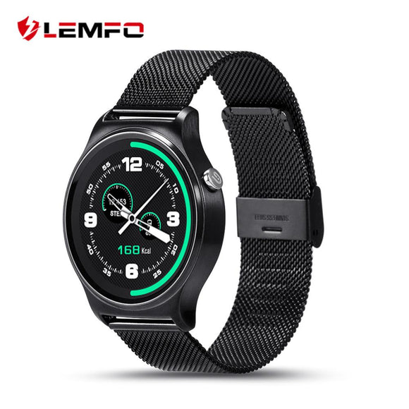 LEMFO GW01 Tracker Smart Watch Sleep Monitor Sedentary Pedometer Message Sync Call Smart Phone For Android IOS - Ace198