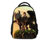 16-inch Boys Bags Kids Backpack How to Train Your Dragon Bag Pupil Book Bag Age 7-13 Children School Bags For Teenagers