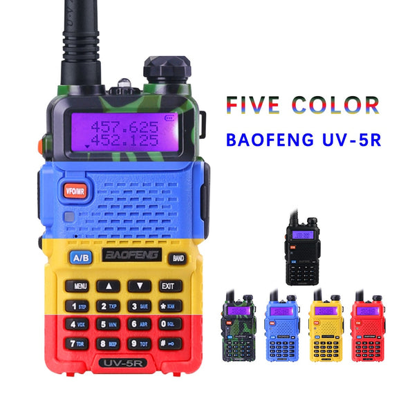 BaoFeng UV-5R Walkie Talkie Professional CB Radio Baofeng UV5R Transceiver 128CH 5W VHF&UHF Handheld UV 5R For Hunting Radio - Ace198
