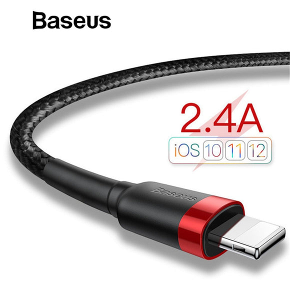Baseus Classic USB Cable for iPhone xs max Charger USB Data Cable for iPhone X 8 6 6s 2.4A USB Charging Cable Phone Cord Adapter - Ace198