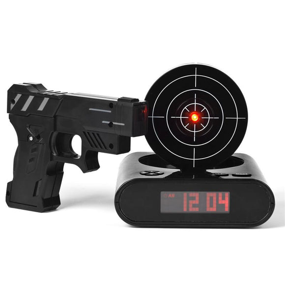 Laser Shooting Alarm Clock - Ace198