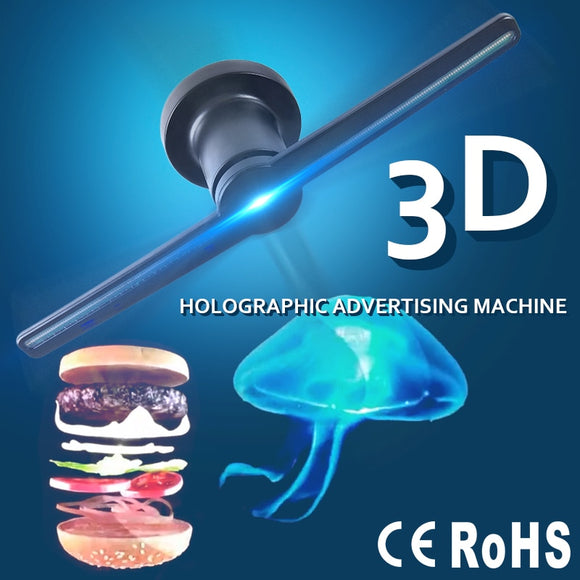3D Hologram Advertising Display LED Fan Holographic Imaging 3D LED Fan light 3d Display Advertising logo Light Decoration - Ace198