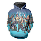 Drawstring 3D Digital Printing Fortnite Novelty Long Sleeve Christmas Cosplay Hoodie Sweatshirt