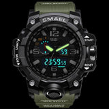 Dual Display Mens Military Quartz Wristwatch Men Resistant Sports Digital Watch - Ace198