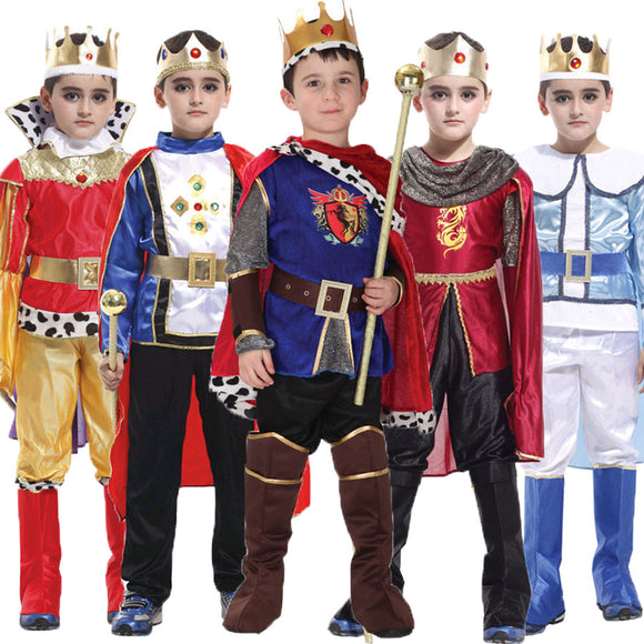 Umorden Halloween Purim Carnival The King Prince Costume for Boy Boys Kids Children Fantasia Infantil Cosplay Clothing Set