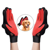 Cat Grooming Gloves Dog Hair Remover Gentle Deshedding Brush Comb Tool Pet Massage Mitt with Enhanced Long/Short Fur - Ace198