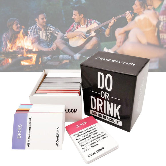 New Board Game Card DO OR DRINK Board Games Party Funny Drinking Game
