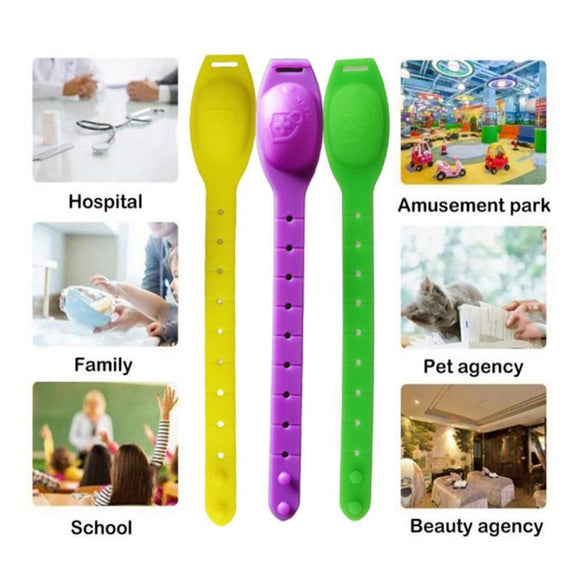 Portable Silicone Bracelet Wristband Hand Soap Dispenser Band Squeeze Bottle