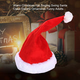 Adults Santa Claus Funny Gift Singing Swing Party Props Decoration Christmas Hat Soft Ornaments Electric Music Kids Toys Warm