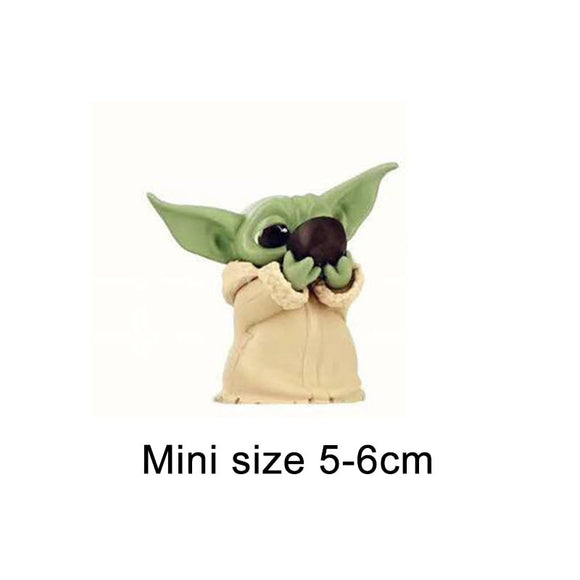 The Mandalorian Baby Yoda Action Figure Toys 5-6cm Cute Yoda Baby Figure Action Toys Hot Movie Star Wars Yoda Figures Kids Gifts