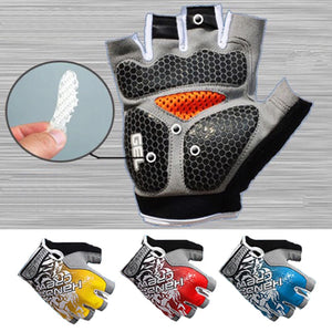 Sports 3D Gel Padded Anti-Slip Gym Gloves - Ace198