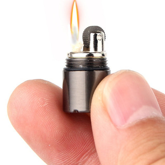 Mini Compact Kerosene Lighter Key Chain Capsule Gasoline Lighter Inflated Keychain Petrol Lighter Outdoor Tools - Ace198