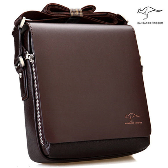 Arrived Brand Kangaroo men's messenger bag Vintage leather shoulder bag Handsome crossbody bag - Ace198