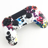 PS4 Accessories Silicone Gel Guards sleeve Skin Grips Cover Case Caps For Playstation 4 PS4 Pro Slim Durable Camouflage Camo - Ace198
