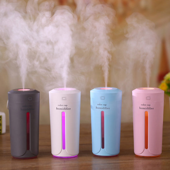 Ultrasonic Air Humidifier Essential Oil Diffuser With 7 Color Lights Electric Aromatherapy USB Humidifier Car Aroma Diffuser - Ace198