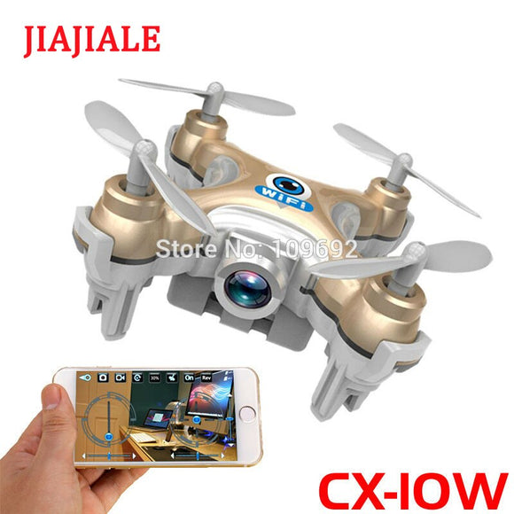 Free Shipping RC Drone Cheerson CX-10W CX10W MINI WIFI FPV Quadcopter 6-Axis 2.4G 4CH With 0.3MP HD Camera Helicopters Toy Gifts - Ace198