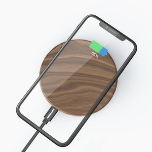 KEYSION 10W 7.5W 5W Qi Wireless Charger Wood fast Wireless Charging Pad for iPhone X 8 Plus for Samsung S9 S8 for Xiaomi Mix 2S - Ace198