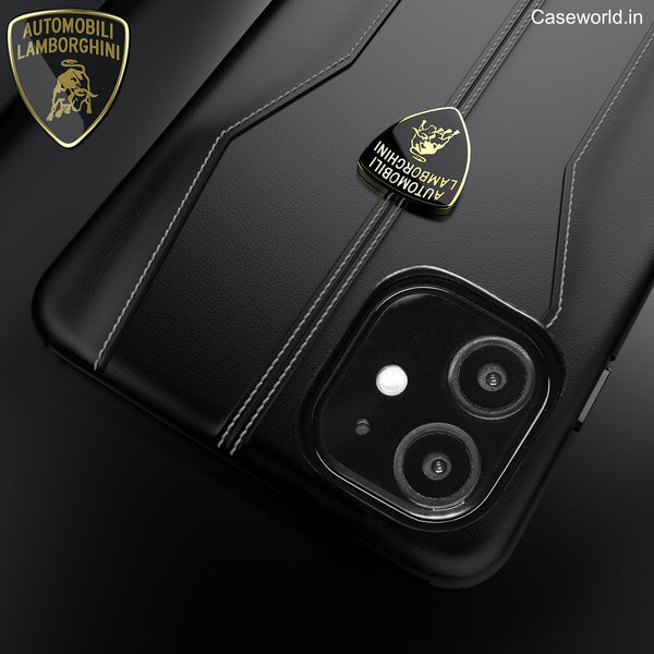 Lamborghini® Huracan D1 Genuine Leather Case for Apple iPhone 11 Pro Max