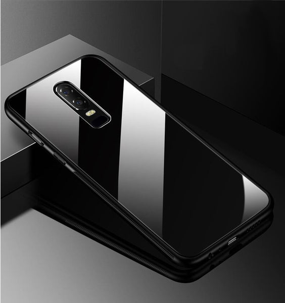 Luxury 9H Hardness Tempered Glass Back Cover Case for OnePlus 6 / One Plus 6 / 1+6