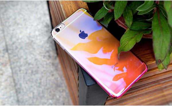 Luxury Blue Ray Laser Gradient Dual Color Hard Back Case Cover for Apple iPhone 7