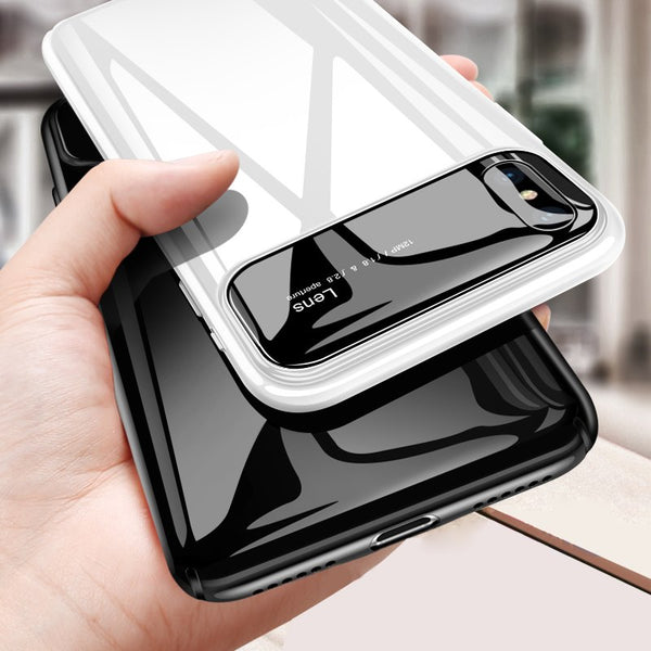 Luxury Smooth Mirror Camera Lens Anti Scratch Back Case Cover for Apple iPhone XS 2018