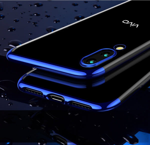 Luxury Laser Plating Utra Thin Transparent Hard Back Case Cover for Vivo X21