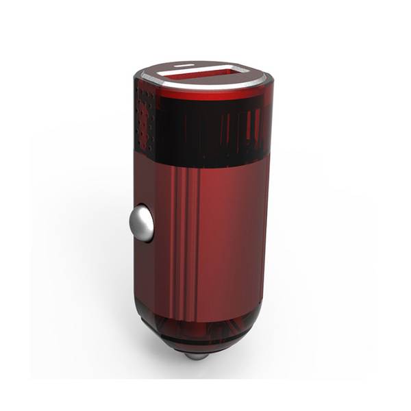 EMY MY-118Q 2 USB Port Quick Charge Fast Car Charger for iPhone, Samsung, OnePlus - RED & BLACK