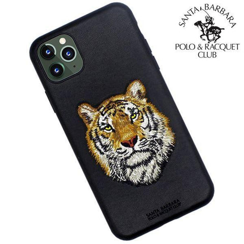 Polo® Santa Barbara Savanna Series Genuine Leather Case for Apple iPhone 11 Pro - Tiger