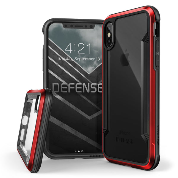 Luxury Hybrid Anti Knock X-Doria Defense Shield Transparent Back Case Cover for Apple iPhone XS 2018