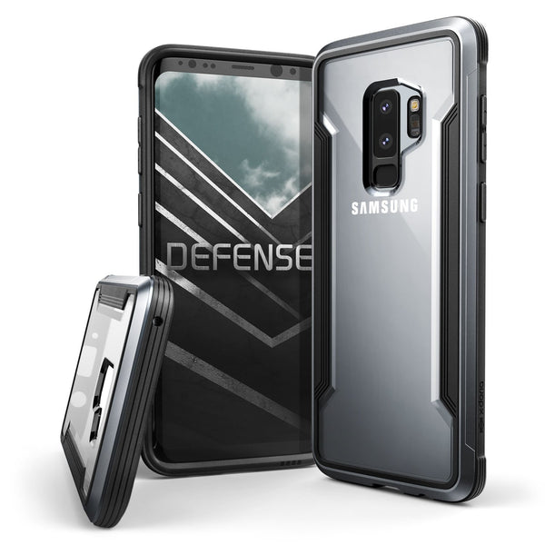 Luxury Hybrid Anti Knock X-Doria Defense Shield Transparent Back Case Cover for Samsung Galaxy S9 Plus