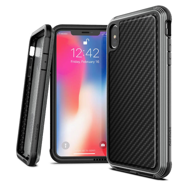 Luxury Anti Knock X-Doria Defense Lux Series Back Case Cover for Apple iPhone XS Max - Black