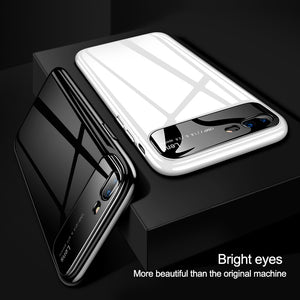 Luxury Smooth Mirror Camera Lens Anti Scratch Back Case Cover for Apple iPhone 7 Plus