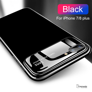 Luxury Smooth Mirror Camera Lens Anti Scratch Back Case Cover for Apple iPhone 8 Plus