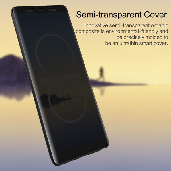 Premium Smart View 360 Full Body Protection Touchable Flip Case Cover for Samsung Galaxy Note 8