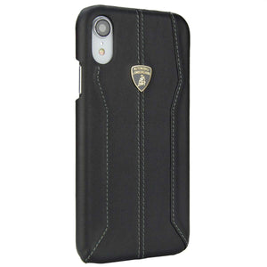 Luxury Genuine Leather Crafted Official Lamborghini Huracan D1 Series Anti Knock Back Case Cover for Apple iPhone XR