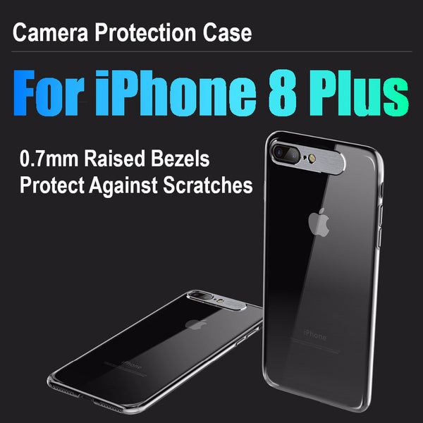 Premium Metal Camera Protection Ultra Slim Hard Matte Back Case Cover for Apple iPhone 8 Plus