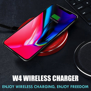 QI Standard ROCK W4 2A Quick Wireless Charger,10W 9V Fast Charging Pad For iPhone X 8 Plus Phone Charger For Samsung Galaxy S8 Plus Note 8