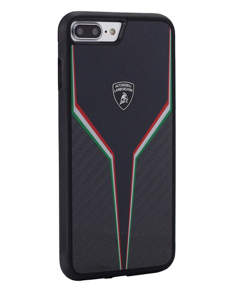 Luxury Automobili Lamborghini Genuine Carbon Fiber Anti Knock Back Case Cover for Apple iPhone 7 Plus - BLACK
