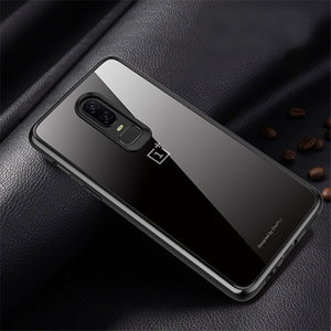 Premium Avenza Hard Acrylic Back Case with Soft TPU Edges for OnePlus 6