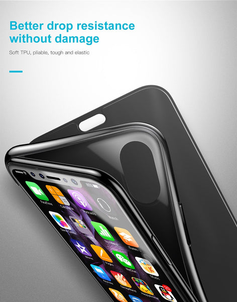 Premium Smart View 360 Full Body Protection Touchable Flip Case Cover for Apple iPhone X