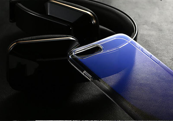 Luxury Blue Ray Laser Gradient Dual Color Hard Back Case Cover for Apple iPhone 8 Plus