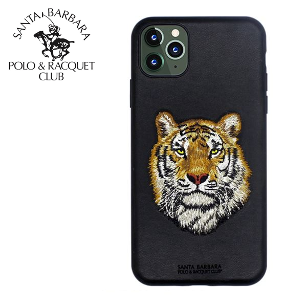 Polo® Santa Barbara Savanna Series Genuine Leather Case for Apple iPhone 11 - Tiger